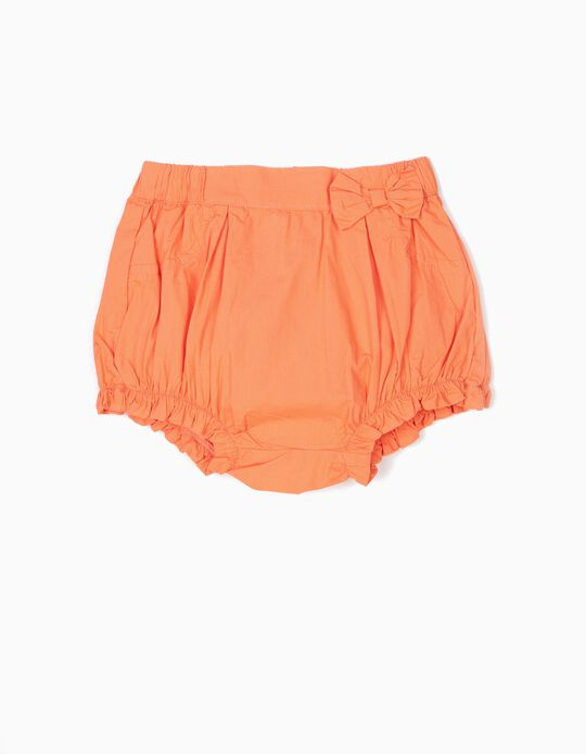 Shorts with Bow for Baby Girls, Orange