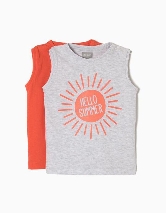 Pack 2 t-shirts sem Mangas Summer