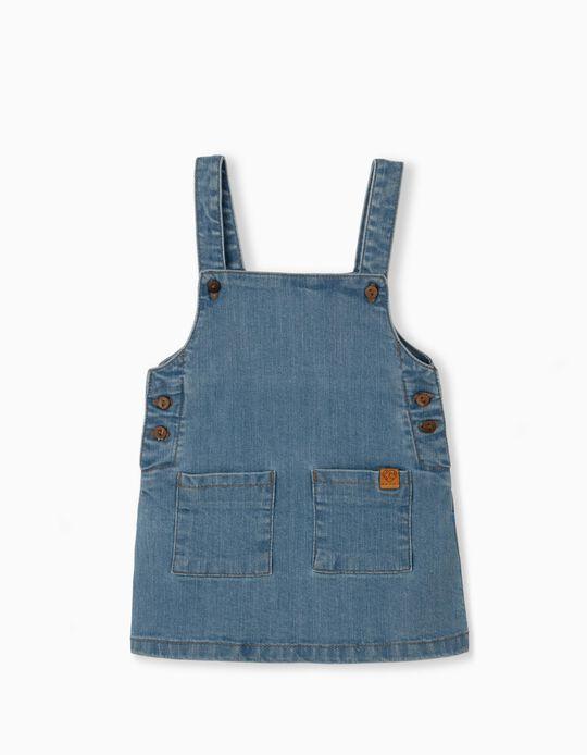 Pinafore Dress, Recycled Denim