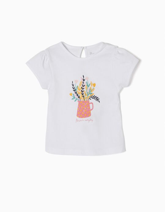 T-Shirt with Print, Flowers Everyday