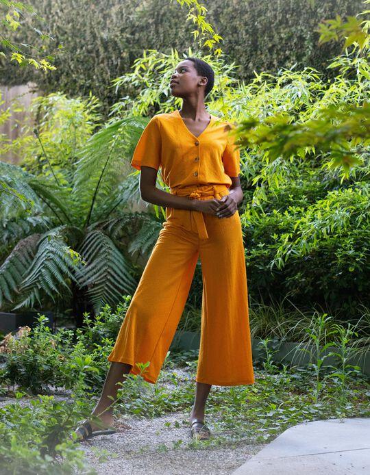 Fluid Trousers for Women, Orange
