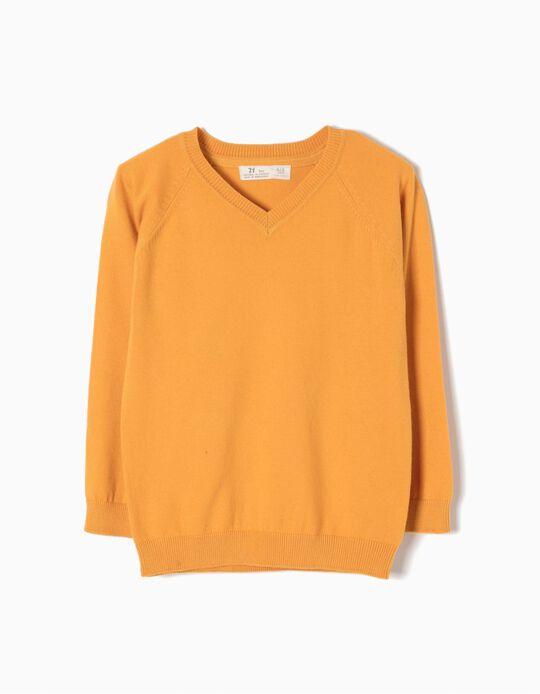 Camisola de Malha Amarelo