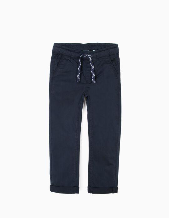 Calças com cintura de elástico