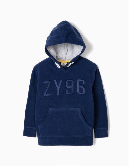 Polar Fleece Hoodie for Boys 'ZY', Blue