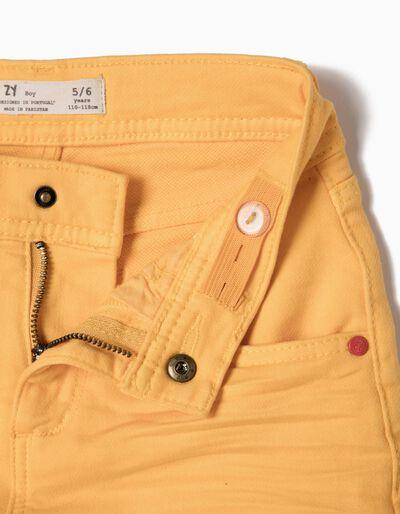 Calções Denim Amarelos