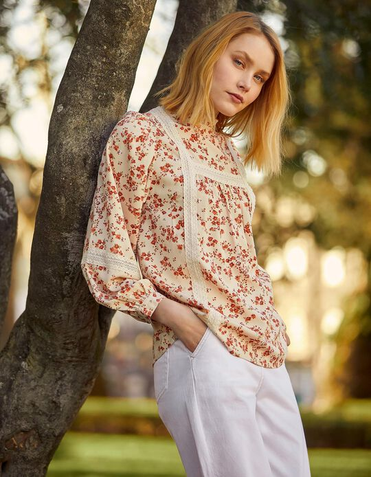 Floral Blouse, for Women