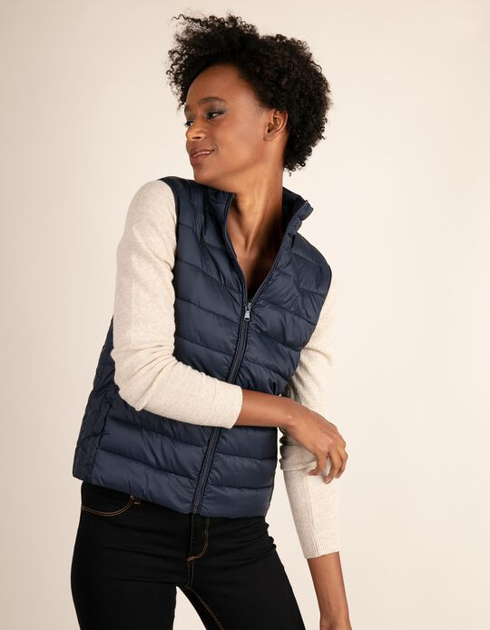 Casual-look quilted bodywarmer