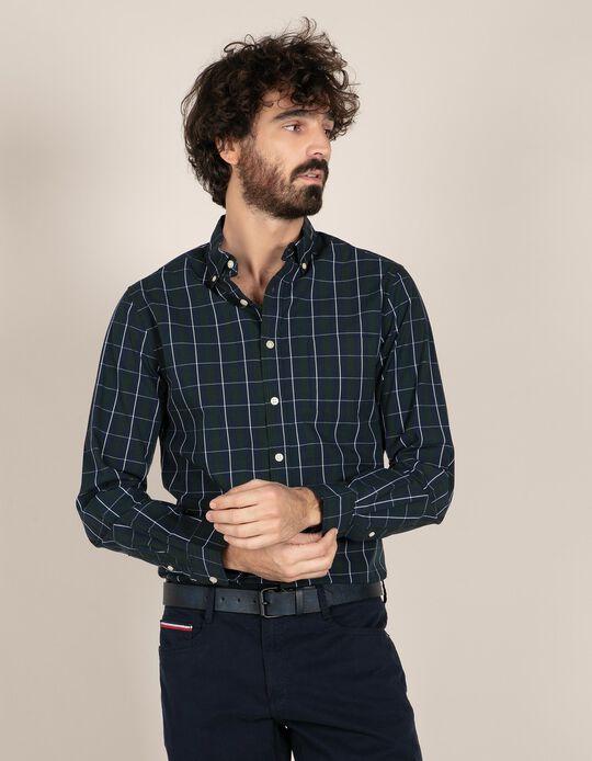 Camisa regular fit tartã