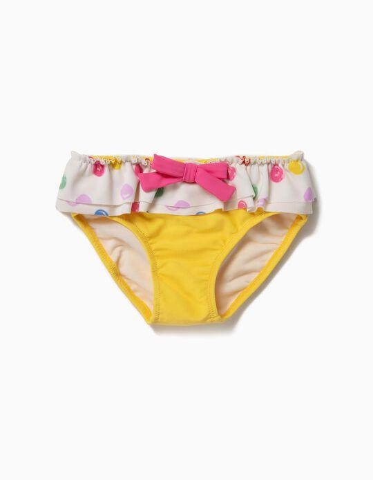 Cuecas de Banho para Bebé Menina 'Dots' Anti-UV 80, Amarelo