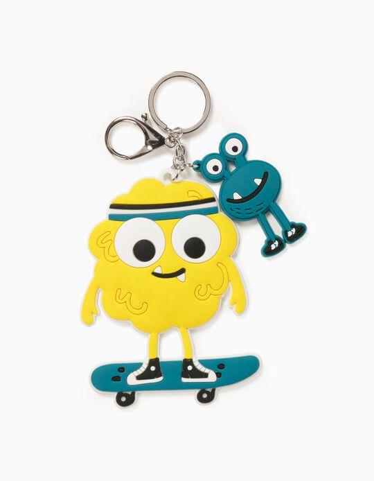 Porta-Chaves para Criança  'Skater Monster', Amarelo/Azul