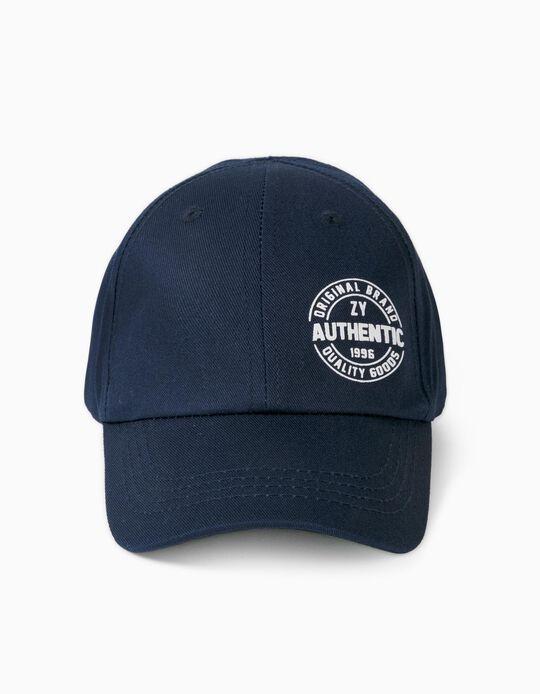 Boné para Menino 'ZY Authentic', Azul Escuro
