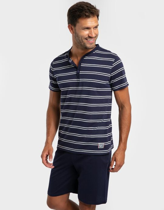 Striped Two-Tone Pyjamas