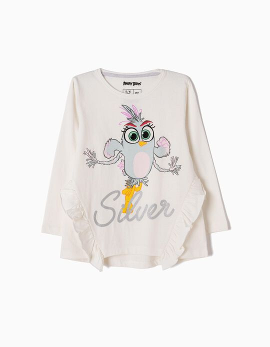 White Long-Sleeved Top, Angry Birds