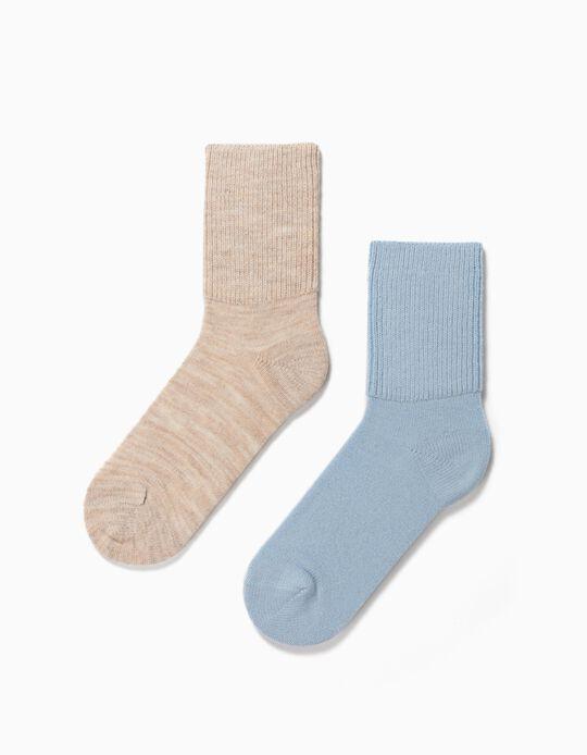 2 Pairs Woollen Socks, for Women
