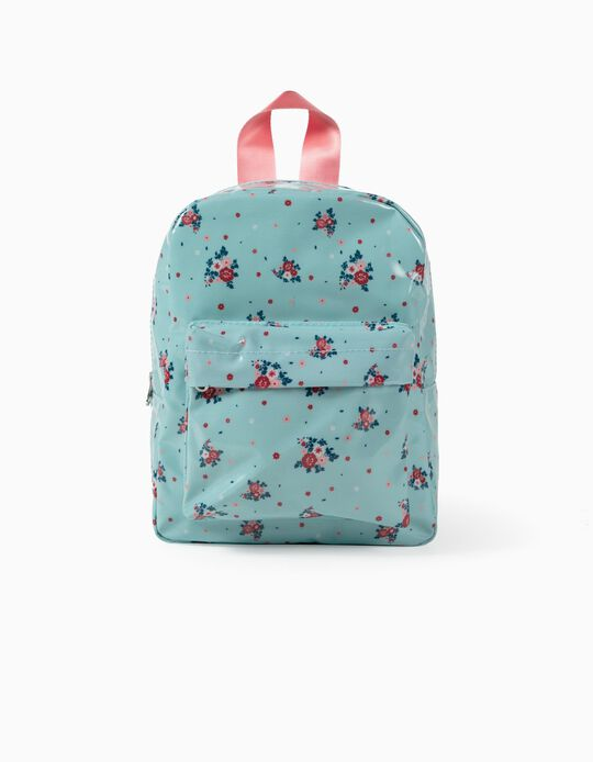 Backpack for Girls 'Flowers', Blue