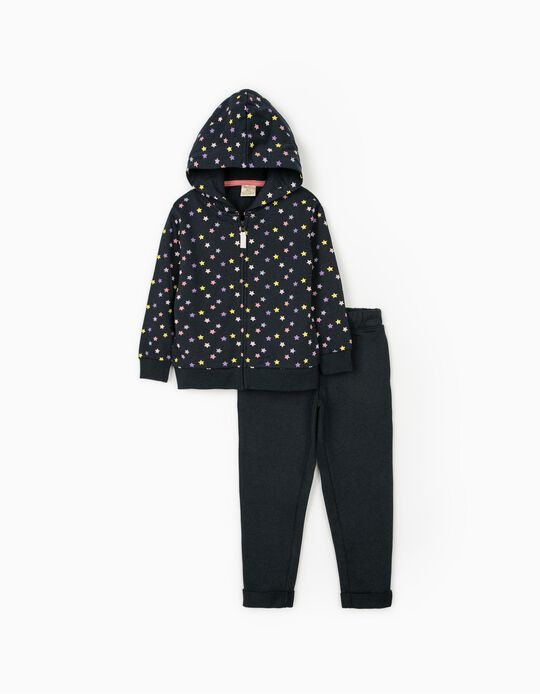 Tracksuit for Girls 'Stars', Dark Blue
