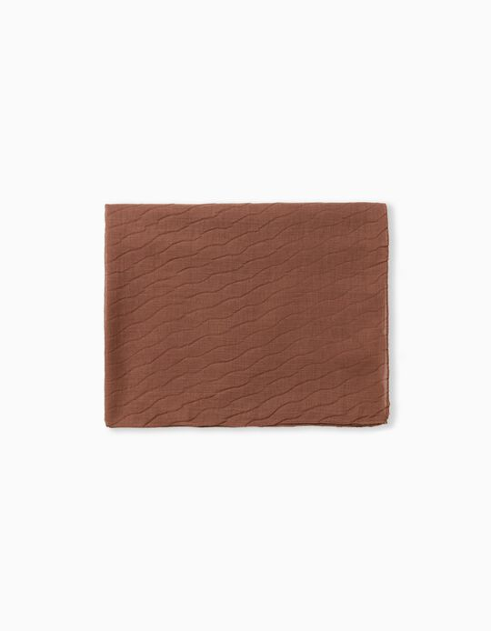 Plain Sateen Scarf, Brown