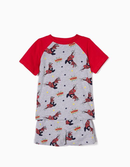 Pijama para Menino 'Spider-Man', Cinza e Vermelho