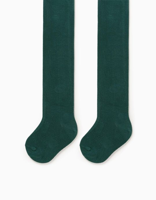 Knit Tights for Baby Girls, Green