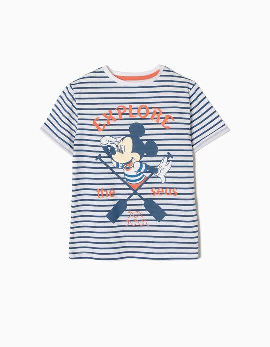 T-shirt Riscas Mickey Explorer
