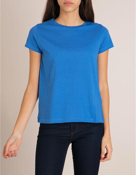 T-Shirt Algodão Azul