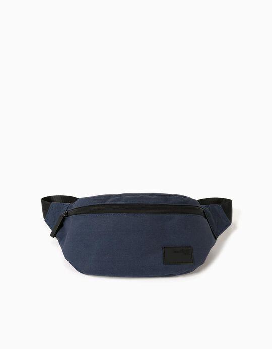 Canvas Bum Bag for Men, Blue