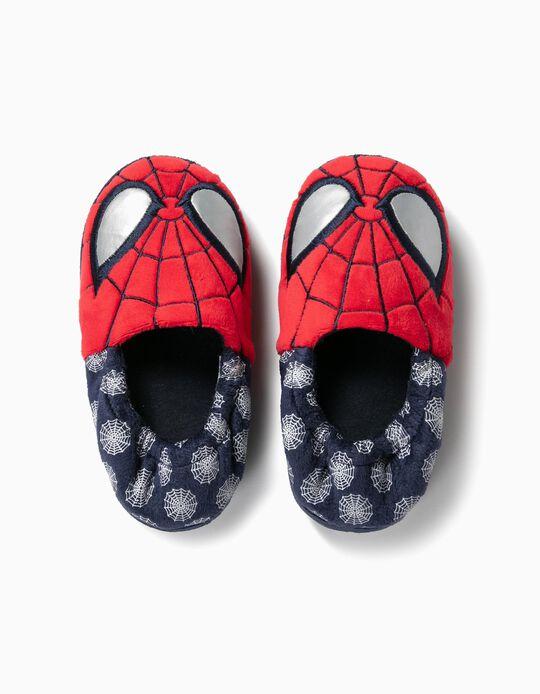 Pantufas para Menino 'Spider-Man', Vermelho e Azul
