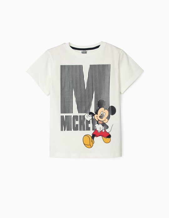 T-Shirt for Boys, 'Mickey', White