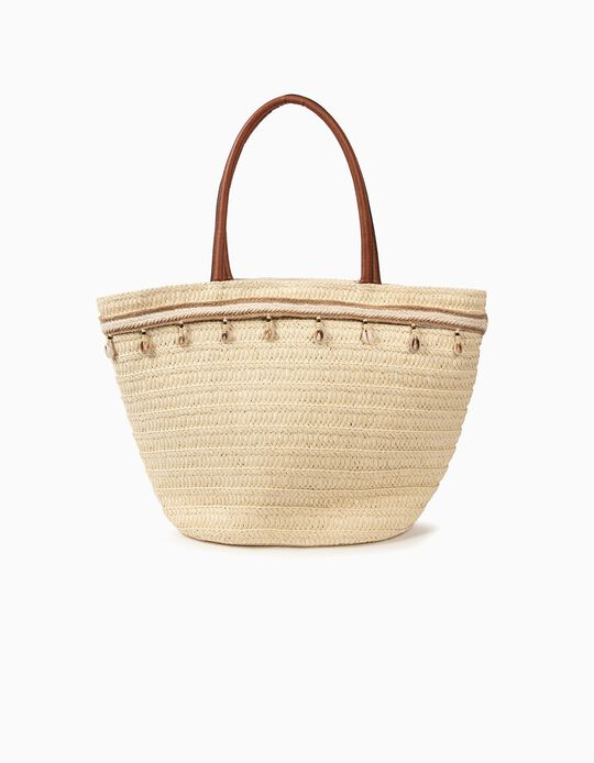 Carteira-cesta com conchas
