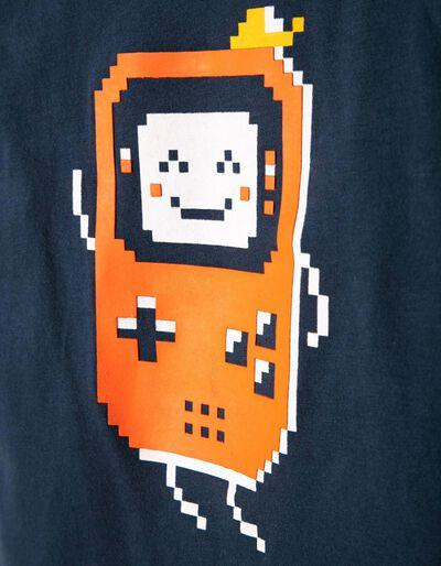 T-shirt Manga Comprida Estampada Game