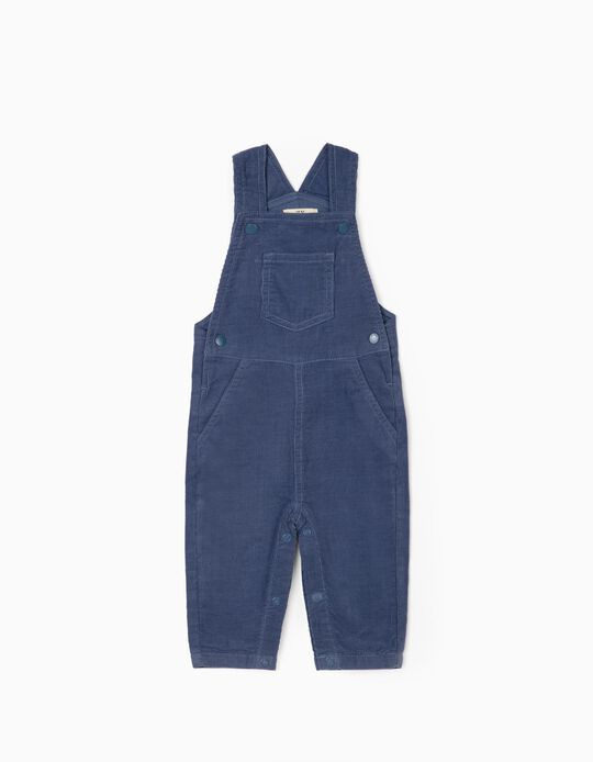 Corduroy Dungarees for Newborn Baby Boys, Blue