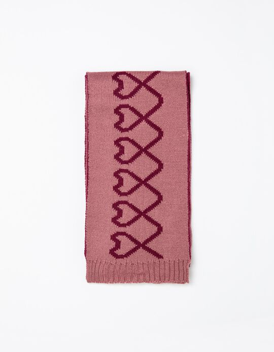 Knitted Scarf, Girls, Pink