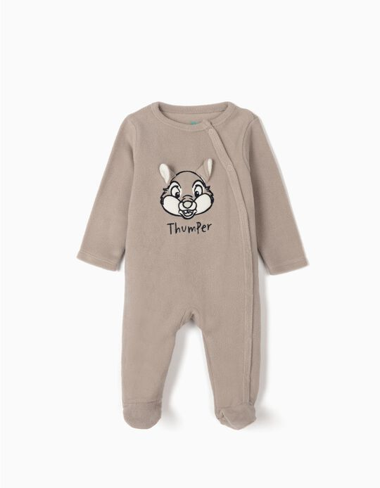 Polar Fleece Sleepsuit for Baby 'Thumper', Grey
