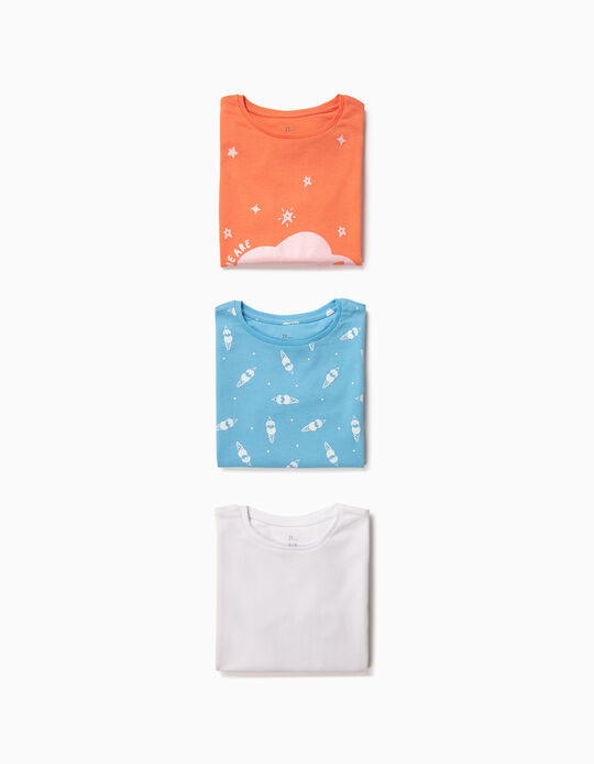 3-Pack T-shirts for Girls 'Future', Multicolour