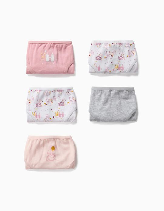 5-Pack Briefs for Girls 'Swan Princess', Multicolour