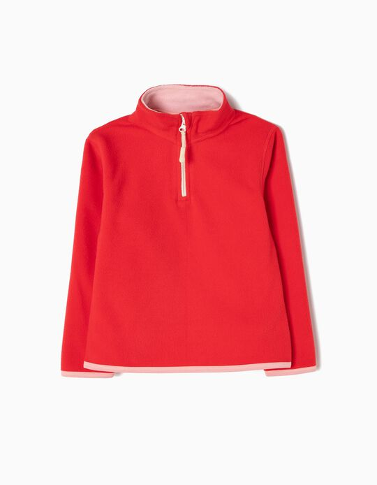 Red Polar Fleece Jumper