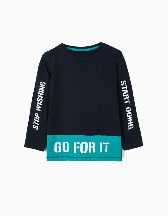 T-shirt estampada Go for it