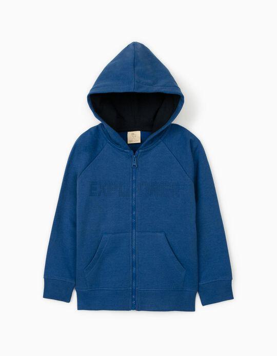Hooded Jacket for Boys, 'Explorer', Blue