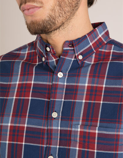 Camisa Xadrez Slim Fit