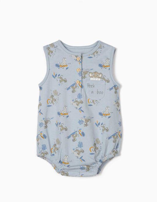 Jumpsuit for Newborn Baby Boys, 'Lion King', Blue