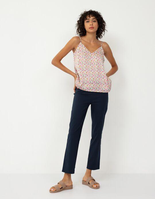 Trousers with Elasticated Waist, Women, Dark Blue