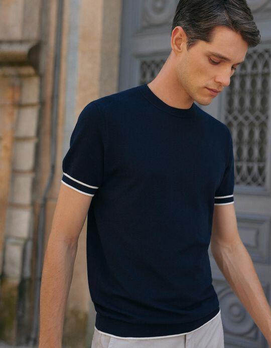 Jersey Knit T-shirt for Men, Dark Blue