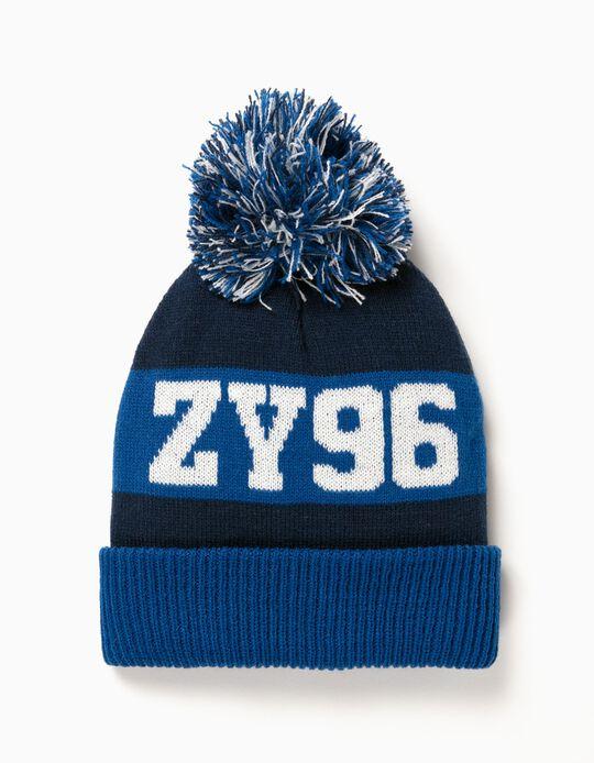 Gorro ZY 96 com Pompom Azul