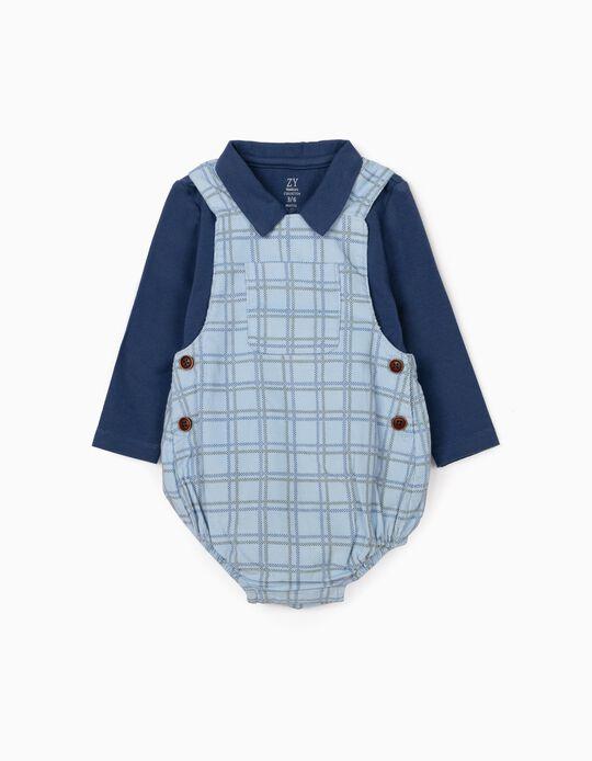 Jumpsuit + Bodysuit for Newborn Baby Boys, Blue