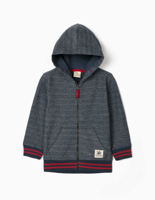 Hooded Jacket for Boys, 'Ancient Egypt', Blue