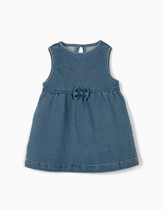 Dress for Newborn Baby Girls, 'Comfort Denim', Blue