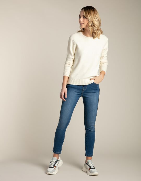Slim Leg Jeans with Detail
