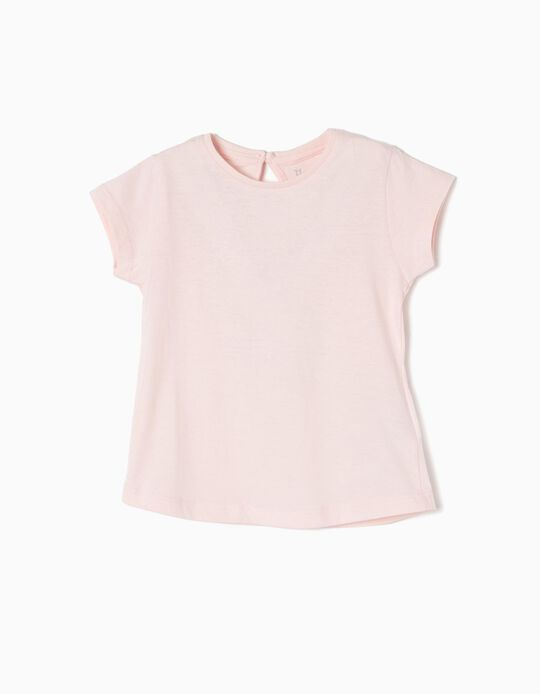 T-Shirt for Baby Girls, Light Pink