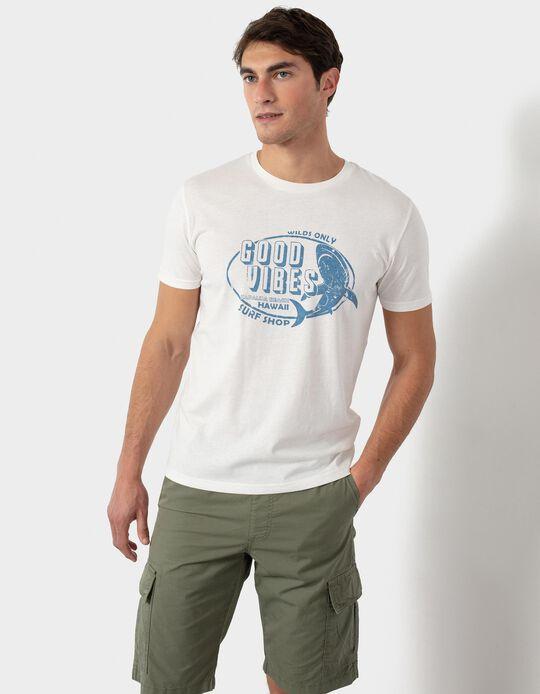 T-shirt com Estampado, Homem
