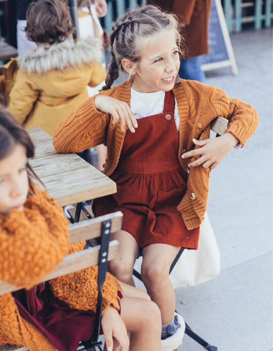 Red Ochre Pinafore Corduroy Dress